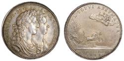 World Coins - William and Mary, Coronation, 1689.