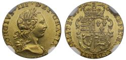 World Coins - George III 1762 Quarter-Guinea NGC MS62