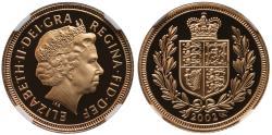 Ancient Coins - Elizabeth II 2002 proof Half-Sovereign PF70 ULTRA CAMEO