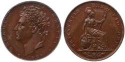 World Coins - George IV 1826 proof bronzed copper Farthing CGS80