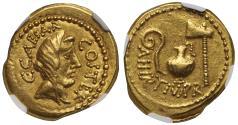 Julius Caesar, Gold Aureus XF 5/5 - 4/5
