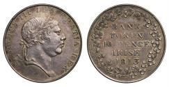 World Coins - Ireland, George III Bank of Ireland 10-Pence, 1813