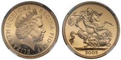World Coins - Elizabeth II 2003 proof Two-Pounds PF70 ULTRA CAMEO