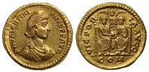 Ancient Coins - Valentinian II, Gold Solidus