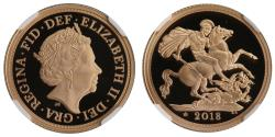 World Coins - Elizabeth II 2018 proof Sovereign PF69 ULTRA CAMEO