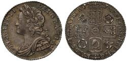 World Coins - George II 1731 Sixpence roses and plumes