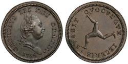 World Coins - Isle of Man, George III 1786 copper Halfpenny