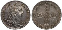 World Coins - William III 1695 Crown OCTAVO edge year