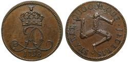 World Coins - Isle of Man, James Murray (1736-65), copper penny, 1758