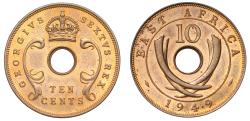 World Coins - East Africa Proof 10-Cents, 1949.