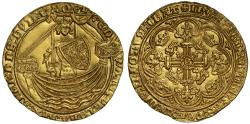 World Coins - Edward III Treaty Period Noble, London, with annulet before E