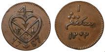 World Coins - Sumatra, Keping, 1787