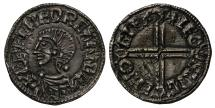World Coins - Aethelred II Penny Gloucester, long cross type