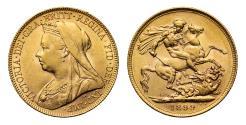 World Coins - Victoria 1899 P Sovereign, Perth Mint