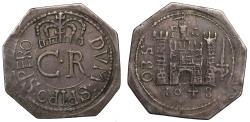 World Coins - Charles I 1648 Pontefract octagonal Shilling