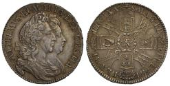World Coins - William and Mary 1692 Halfcrown