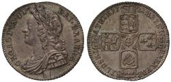 World Coins - George II 1728 Sixpence, young head, plain reverse