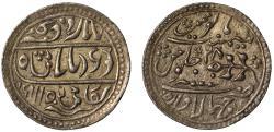 World Coins - Jhalawar. Silver Nazarana Rupee.