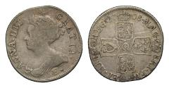World Coins - Anne 1708E Shilling