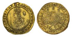World Coins - Charles I 1643 Oxford mint Triple Unite, bust with scarf, rarer type
