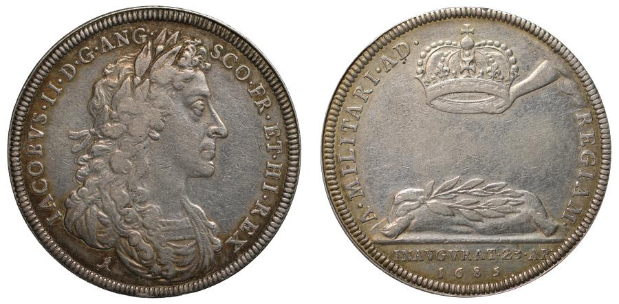 World Coins - Coronation of James II, 1685.