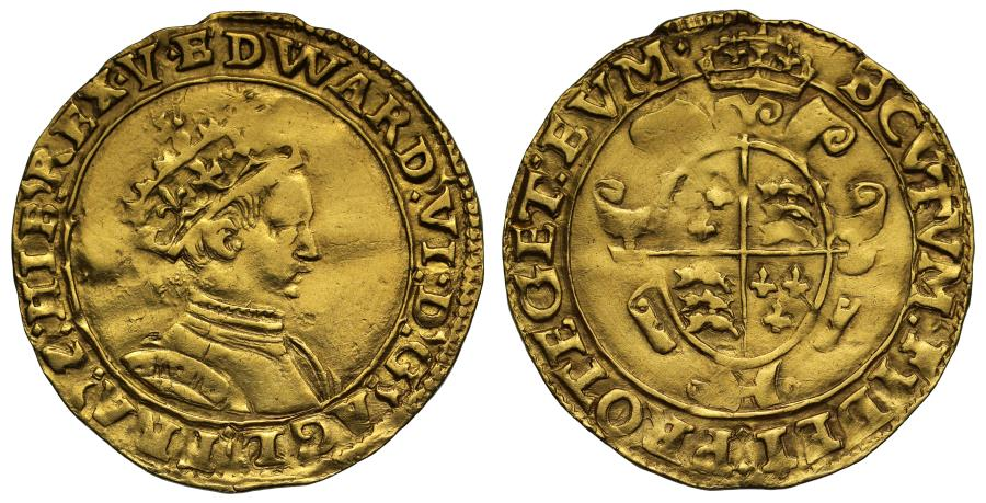 World Coins - Edward VI gold Crown, second period, Southwark Mint, mm Y