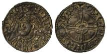 World Coins - Edward the Confessor Penny London, expanding cross light