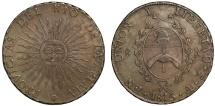 "World Coins - Argentina, Rio de la Plata ""PROVICIAS"" 1815 8-Real"