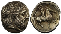 Kingdom of Macedon, Philip II, Silver Tetradrachm
