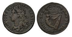World Coins - Ireland, James II 1685 Halfpenny