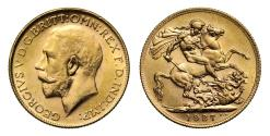 World Coins - George V 1927 P Sovereign, Perth Mint