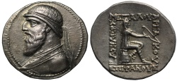 Ancient Coins - Kingdom of Parthia, Mithradates II, Silver Tetradrachm