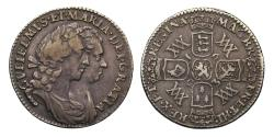 Ancient Coins - William and Mary Sixpence, 1693