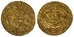 World Coins - Edward IV gold Angel, final issue concurrent with Edward V