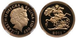 World Coins - Elizabeth II 2011 proof Half-Sovereign PF68 ULTRA CAMEO