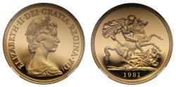 World Coins - Elizabeth II 1981 proof Five-Pounds PF69 ULTRA CAMEO