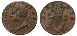 World Coins - Ireland, George II 1760 copper Farthing