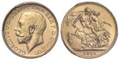World Coins - George V 1911 Perth Soveregin MS62