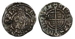 World Coins - Henry VIII Penny, Sovereign type, Durham, Bishop Tunstall
