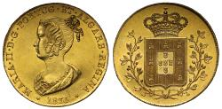 World Coins - Portugal, Maria II 1835 gold Peca