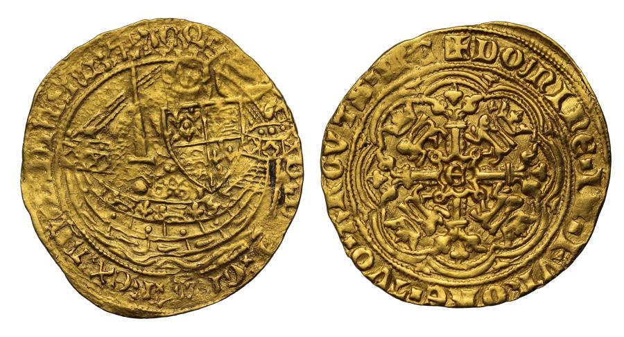 World Coins - Edward III Half-Noble, Transitional Treaty Period