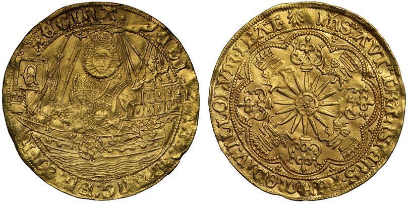 World Coins - Elizabeth I gold Ship Ryal, Continental issue