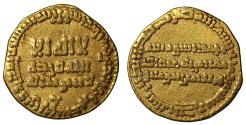 World Coins - Abbasid, Gold Dinar naming Harun al-Rashid.