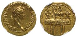 Iconic Claudius, DE BRITANN gold Aureus, NGC EF 5/5, 3/5.
