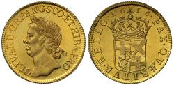 Ancient Coins - Oliver Cromwell 1656 Broad