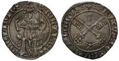 World Coins - Avignon, Martin V Colonna, silver Carlin