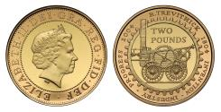 World Coins - Elizabeth II 2004 gold proof Two Pounds - Steam Locomotive