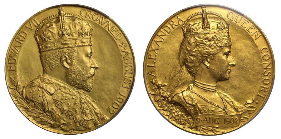 World Coins - Edward VII, Coronation, 1902.