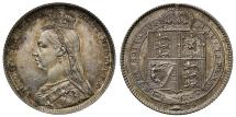 World Coins - Victoria 1889 Shilling Large head