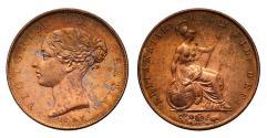 World Coins - Victoria 1841 Halfpenny